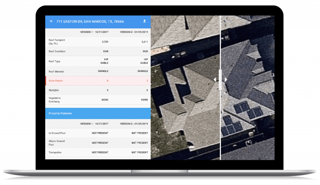 IRIS aerial imagery analysis for insurance carriers