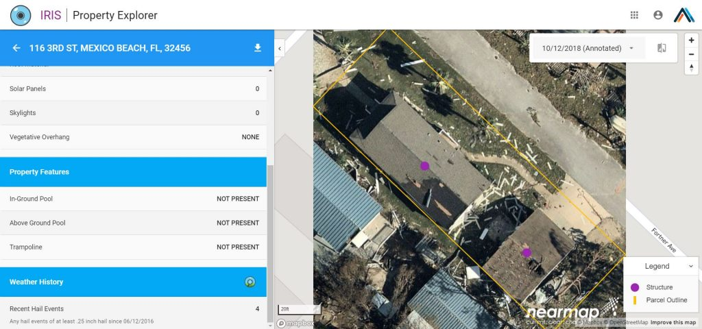 IRIS imagery integration with Dexter weather verification