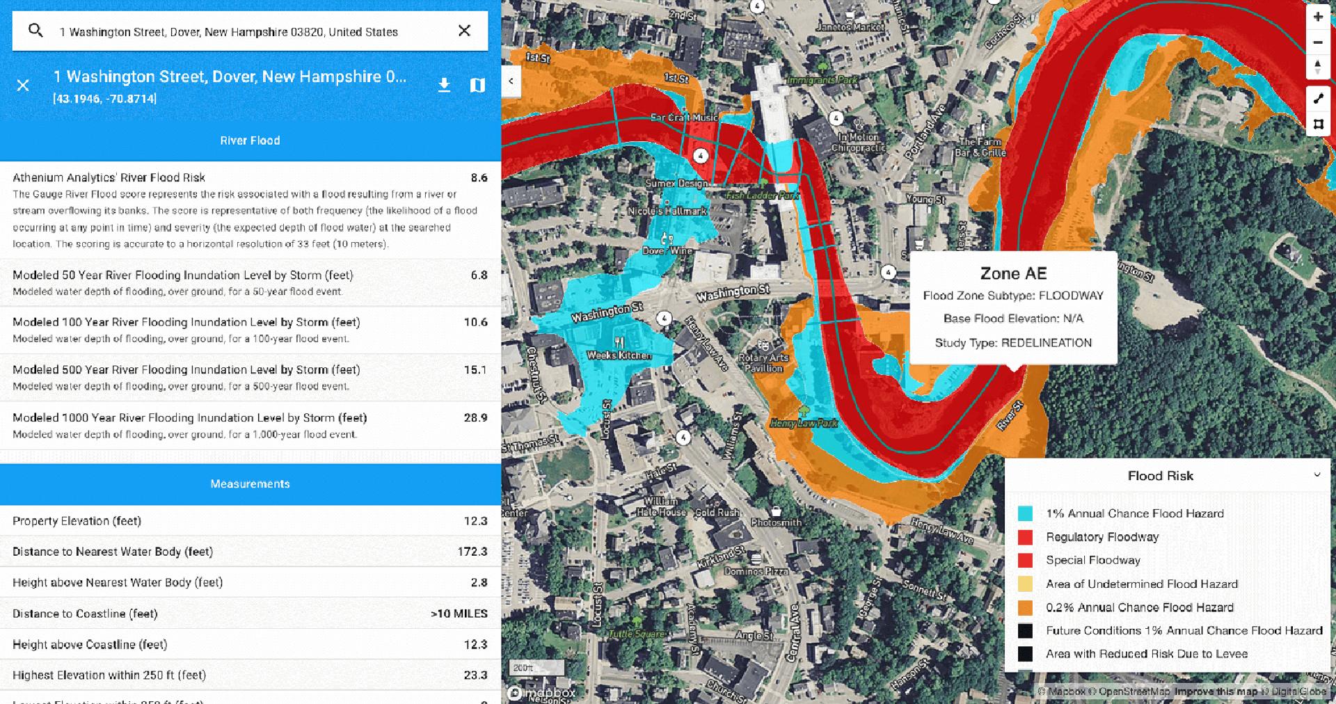 flood risk map for insurance