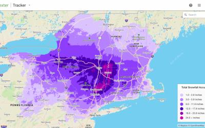 Dexter captures record snowfall across Northeast