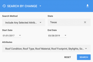 IRIS search by imagery change detection