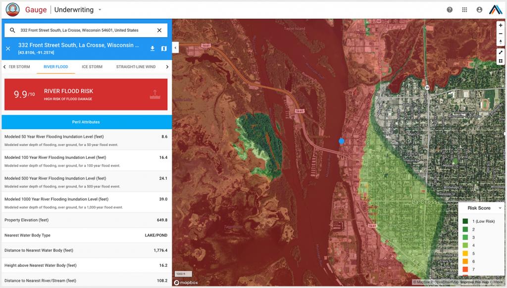 GaugeFlood river flood risk maps