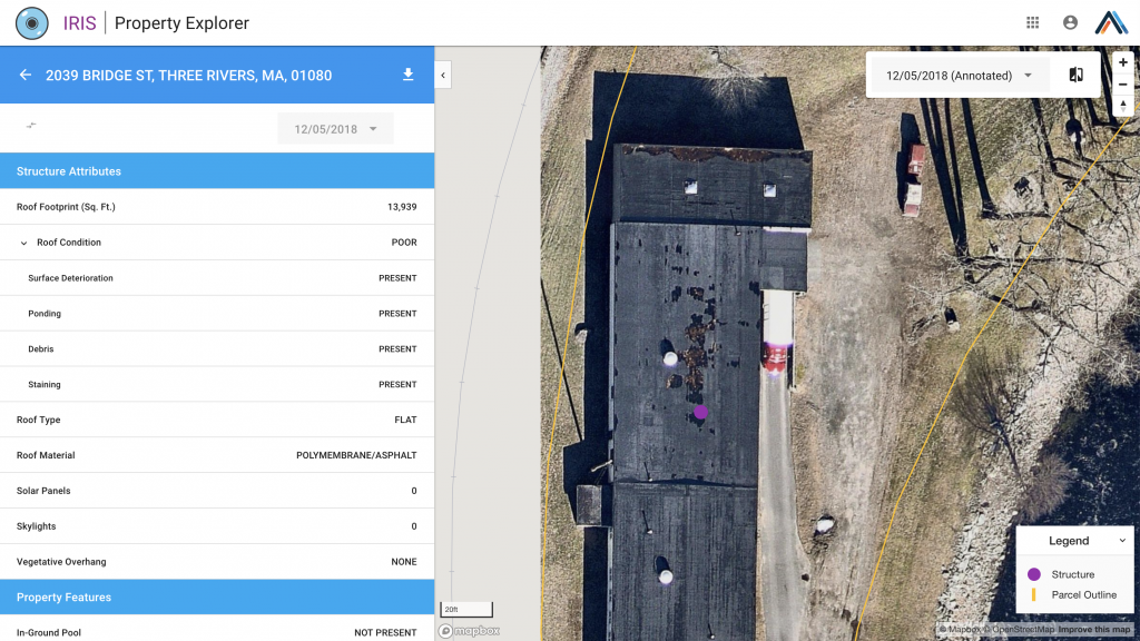 IRIS geospatial imagery roof condition