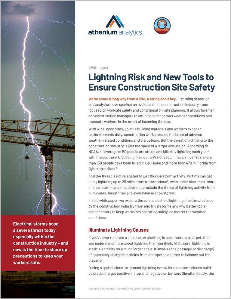 Lightning risk technology for construction whitepaper
