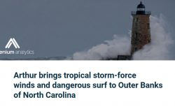 Tropical Storm Arthur email header