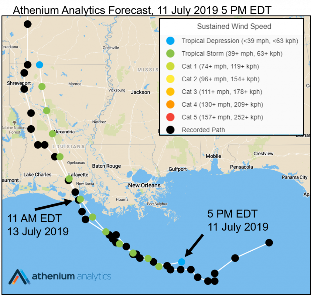 Hurricane Barry Athenium Analytics forecast