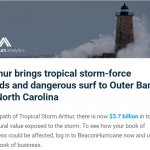 Tropical Storm Arthur Structural Value Estimates