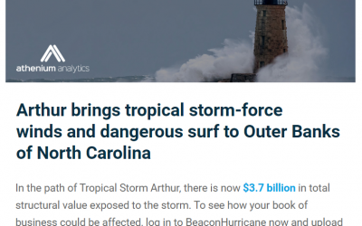 Tropical Storm Arthur Structural Value Estimates