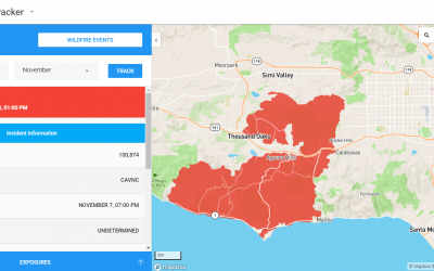 Using wind data to understand the most destructive wildfires in California history