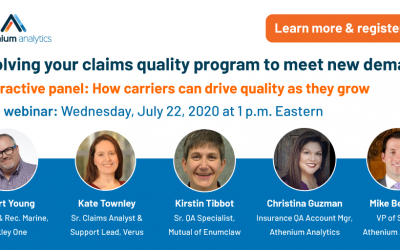 Webinar: Evolving your claims quality program to meet new demands