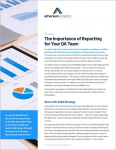 QA whitepaper - importance of reporting KPIs