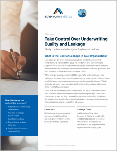 QA whitepaper - underwriting leakage