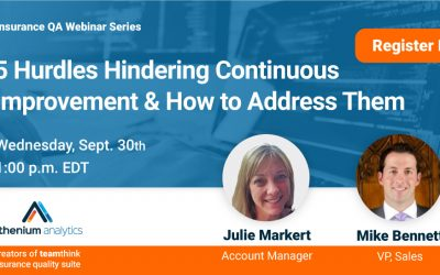 Webinar: 5 hurdles to continuous improvement & how to address them
