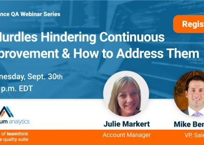 Webinar: 5 hurdles hindering continuous improvement & how to address them