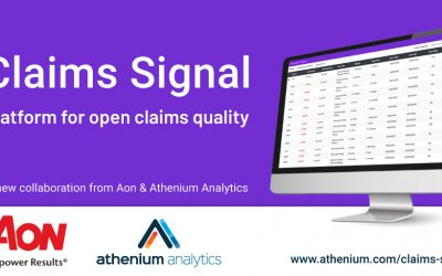 Athenium Analytics joins forces with Aon to launch Claims Signal, a new open claims quality platform