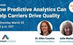 Webinar - how predictive analytics can drive insurance quality