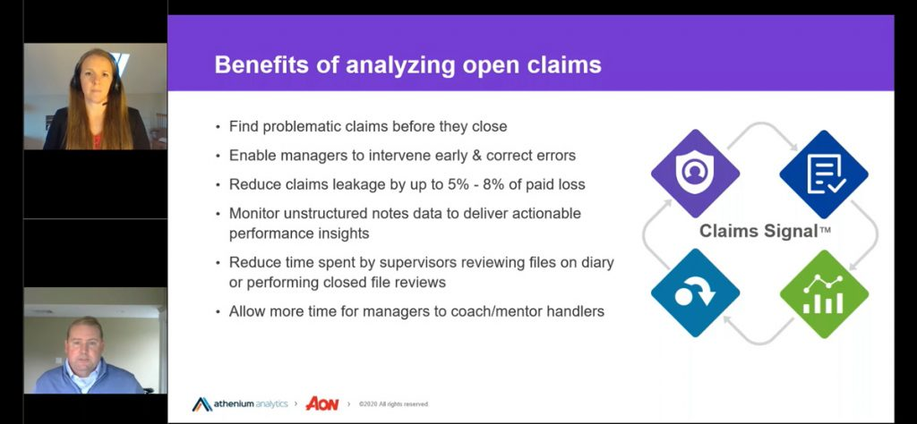 Claims Signal open claim audit webinar screenshot