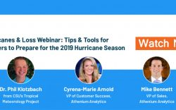 Hurricanes and insurance loss webinar from Athenium Analytics