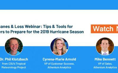 Watch our hurricane science & insurance loss webinar with hurricane expert Dr. Phil Klotzbach