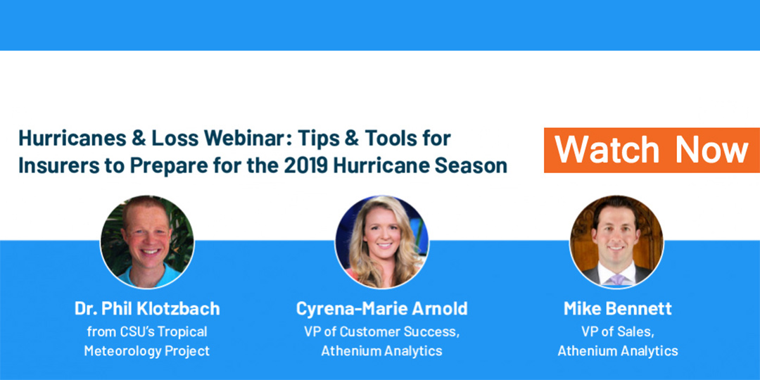 Watch our hurricane science & insurance loss webinar with hurricane expert Dr. Phil Klotzbach
