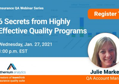 Webinar: 6 secrets from highly effective insurance quality programs