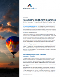 Parametric insurance weather data