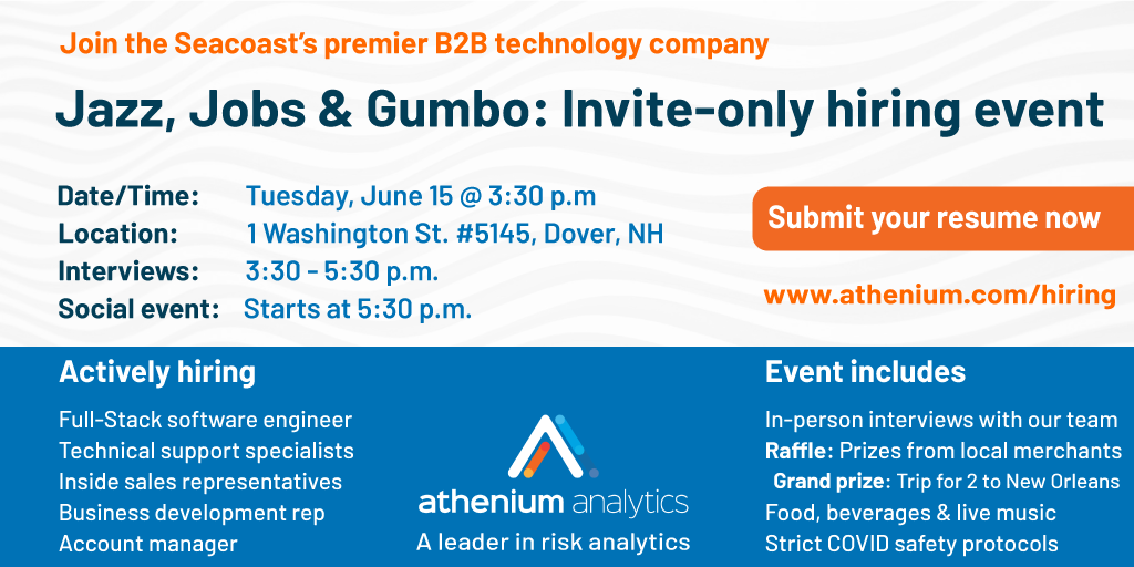 Apply now for the Jazz, Jobs & Gumbo hiring event on June 15th