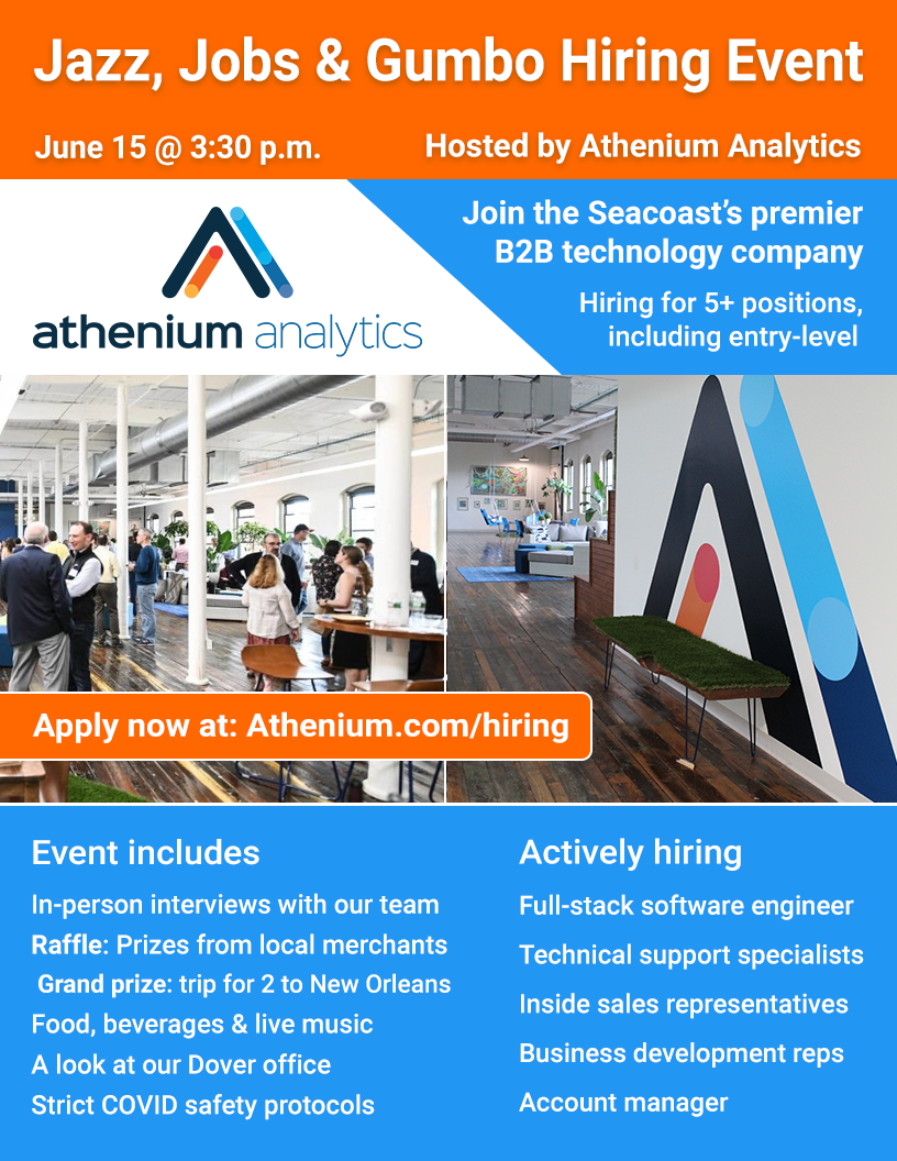 Jazz, Jobs & Gumbo hiring event poster - June 15, 2021