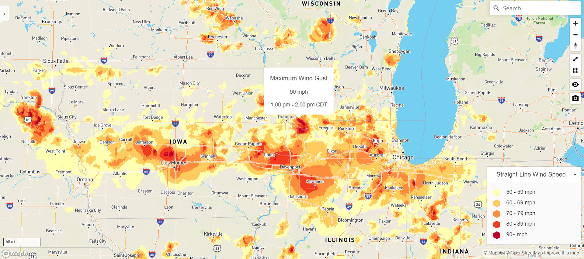 Midwest Derecho post-event forensics for insurance