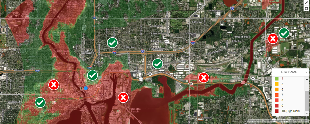 Underwriting river flood risk in Tampa Florida