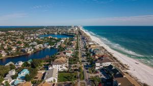 Coastline with real estate